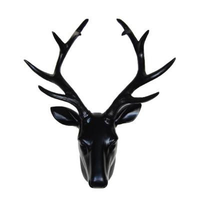 Deer Head Wall Art | Black