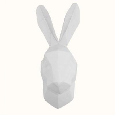 Rabbit Wall Art | White