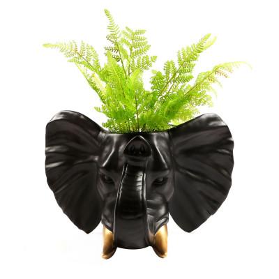 Elephant Hanging Plant Pot | Black