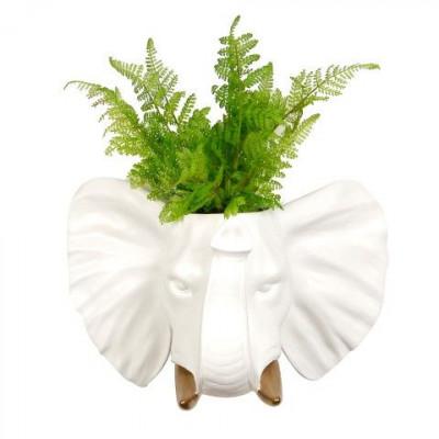 Elephant Hanging Plant Pot | White