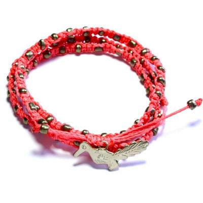 Bracelet | Wachinik Neon Coral