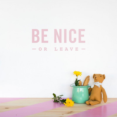 Wall Decal | Be Nice or Leave