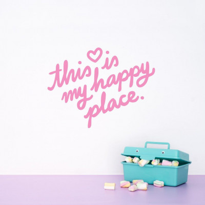Wall Decal | This Is My Happy Place