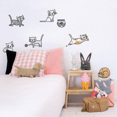 Eva Mouton Wall Sticker | Cat