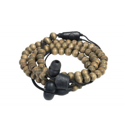 Armband-Kopfhörer Natural Wrap   Nussbaum