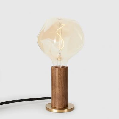 Tischlampe  Knuckle mit Voronoi I Glühbirne   Walnuss