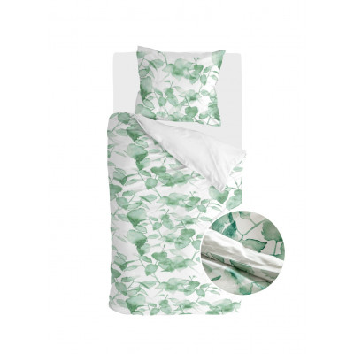 Bettbezug Green Leaves   Weiß