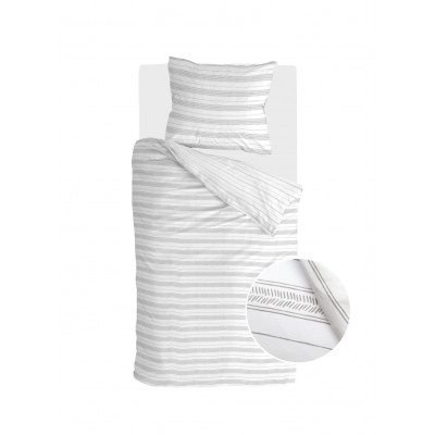 Bettbezug Head over Lines   Weiß