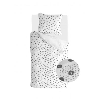 Bettbezug Silver Spots   Weiß