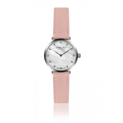 Frauenuhr Coburg Leder   Pink