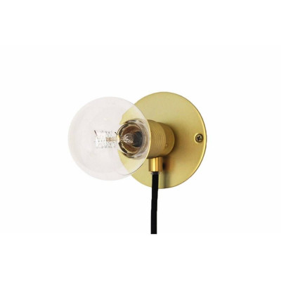E27 Wall Light S   Brass