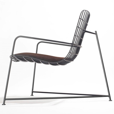 Wang Lounger Wire   Black