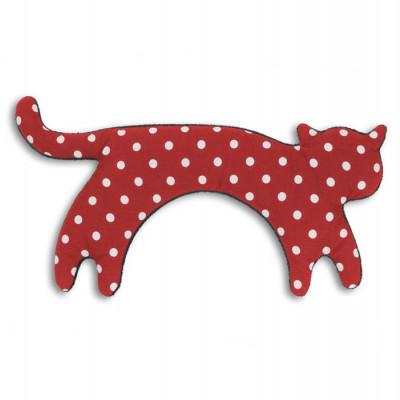 Warming Pillow Minina Cat Large | Polkadot Red