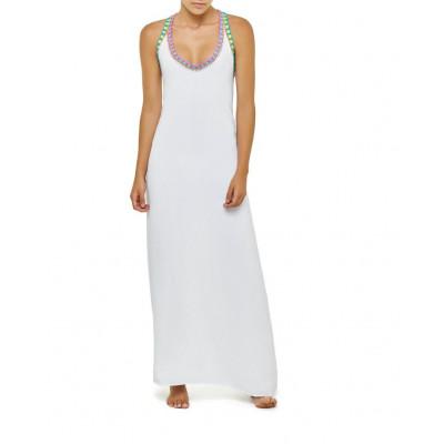 Stitched Long Dress | White