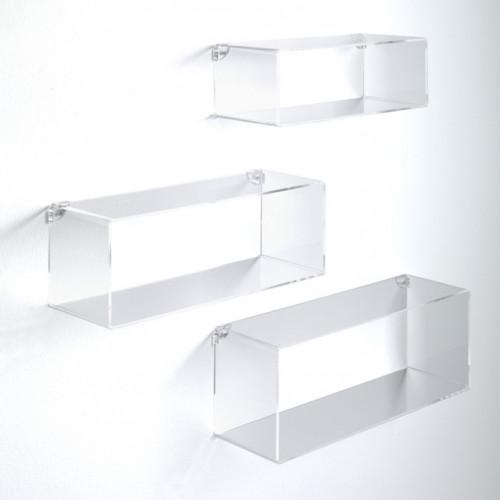 Set of 3 Wall Cubes | Transparent