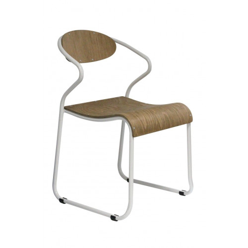 Chaise avec Accoudoir Walter   Blanc