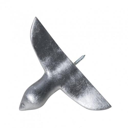 Wandhaken Vogel aus Beton | Silber