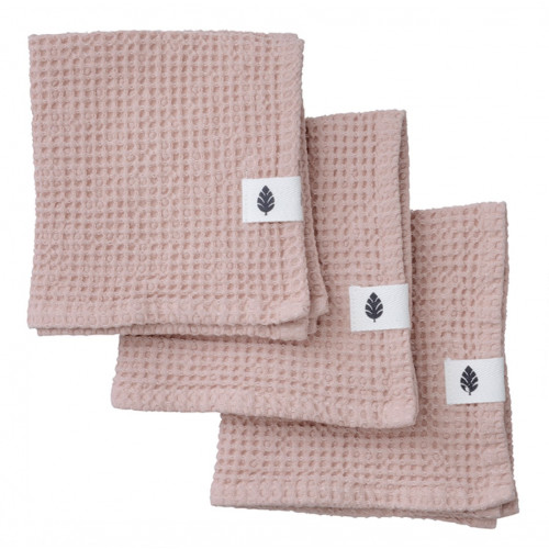 Set de 3 Serviettes de Toilette Waffly | Nude
