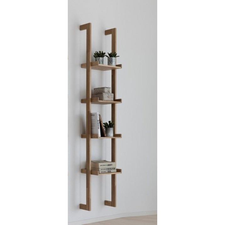 Wall Bookshelf f/wall mounting Narrow | Natural Oak