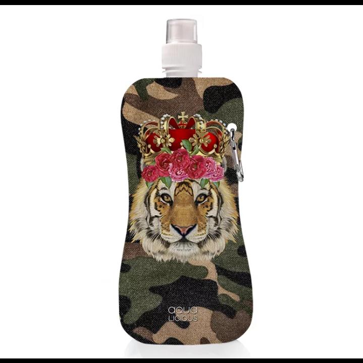 Water Bottle   Tiger Rose