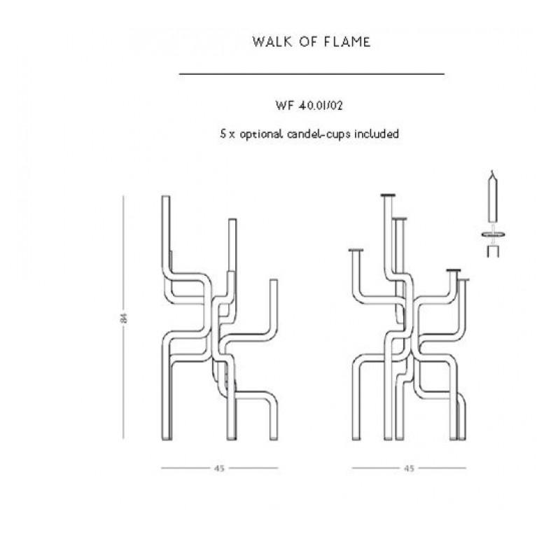 Kerzenhalter Walk of Flame | Dunkelgrau