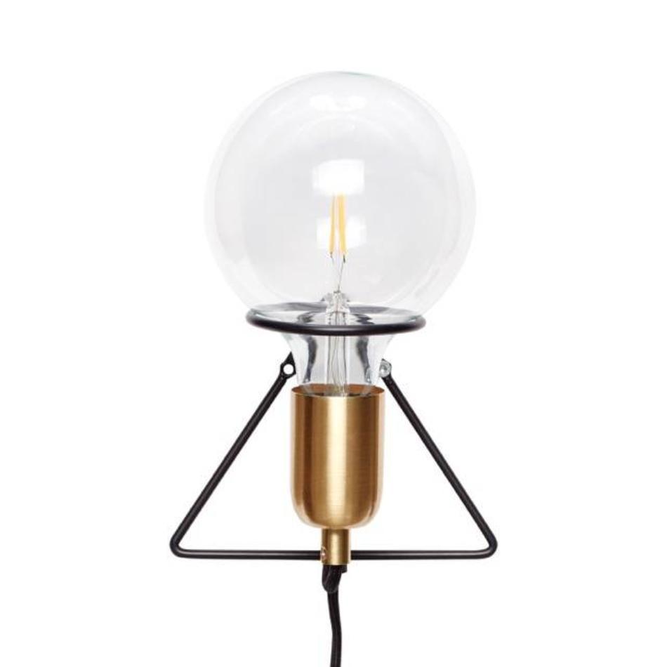 Wandlampe | Messing / Schwarz
