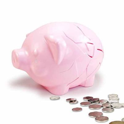 Fixed Piggy Bank | Pink