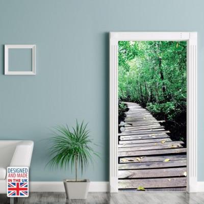 Wall Sticker Door 90 x 200 cm | Wooden Path
