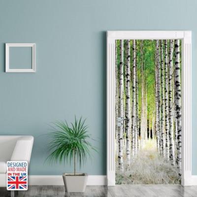 Wall Sticker Door 90 x 200 cm | Birch Pillars