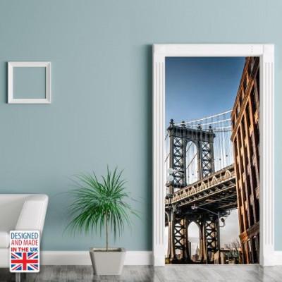 Wall Sticker Door 90 x 200 cm   Manhattan Bridge