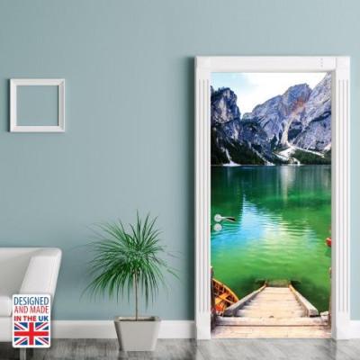Wall Sticker Door 90 x 200 cm | Mountain Landscape