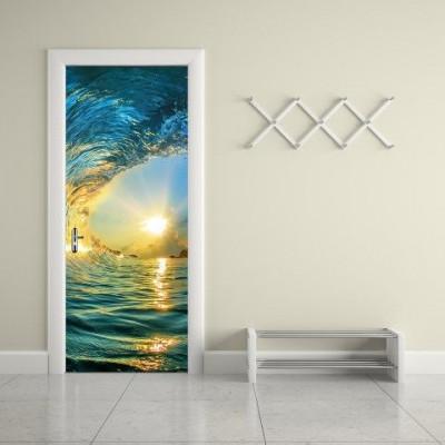 Wall Sticker Door - 2 Pieces of 44 x 200 cm | Surf Wave