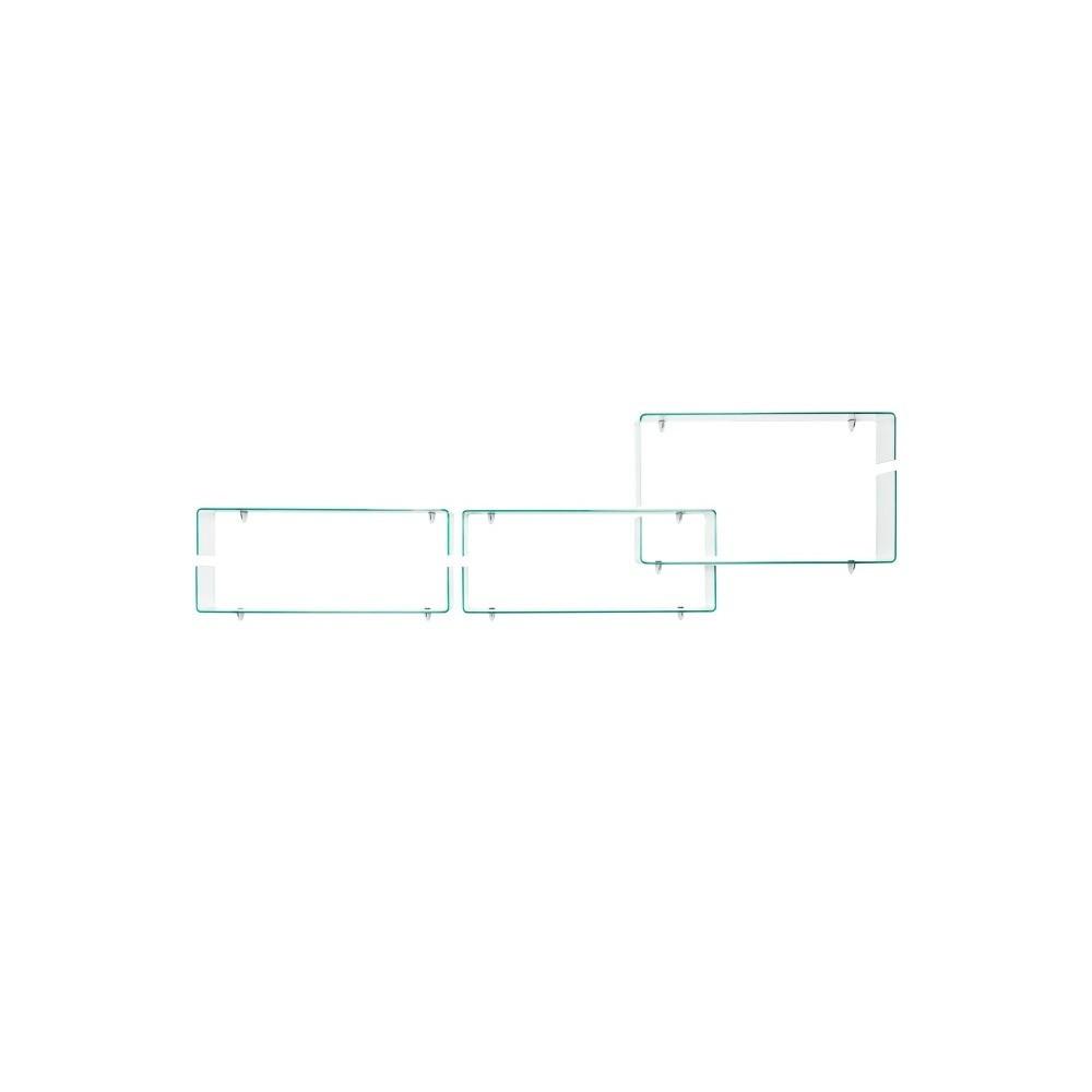 Set of 6 Shelves   Glass