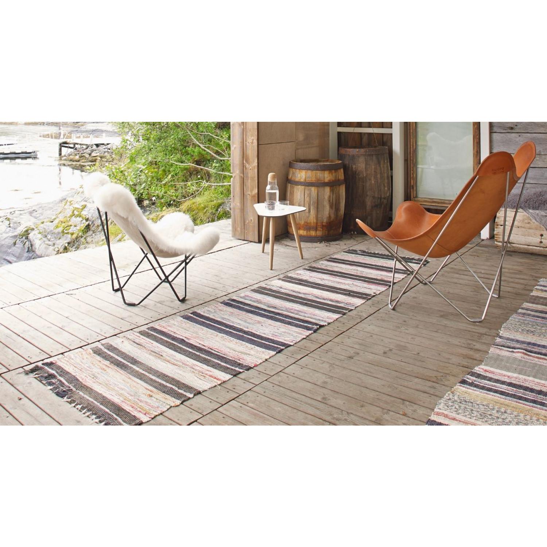 Butterfly Chair Icelandic Sheepskin | Short Grey / Chrome Frame