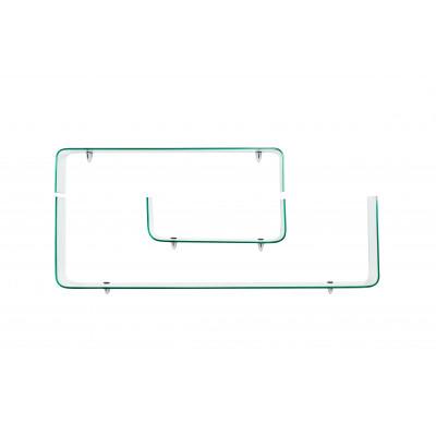 Satz mit 3 Einlegeböden | Glas