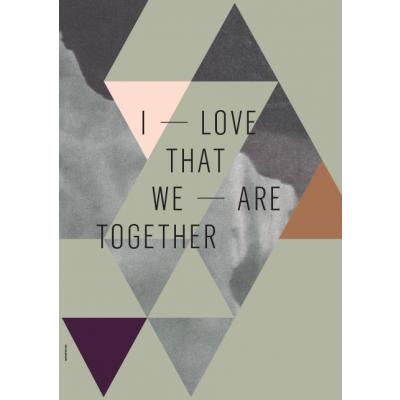 Geometrie der Liebe Poster | Wir sind zusammen