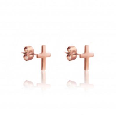 Earrings Cross   Rosé