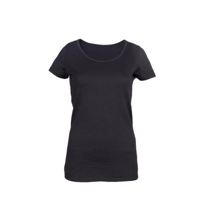 Sleeve Scoop Short Merino Cali Top | Black