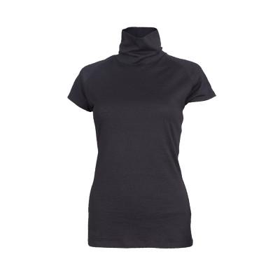 Turtleneck Short Merino Cali Top | Black