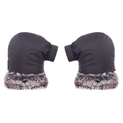 Pogies Bicycle Gloves Straight | Faux Fur