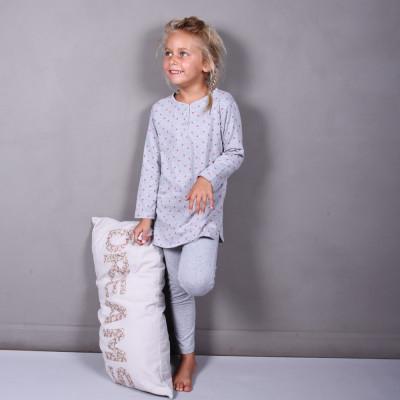 Heather-Grey Kaftan Pyjama