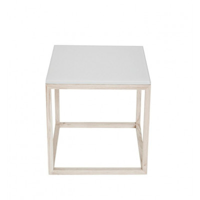 Würfelglastisch | Weiß