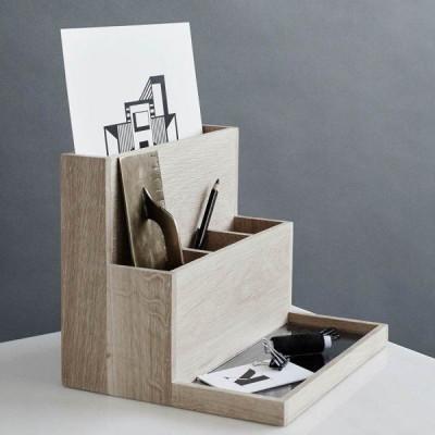 Desktop Organizer   Oak