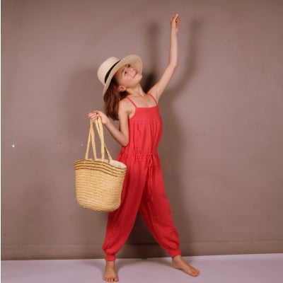 Girl Jumpsuit Coral