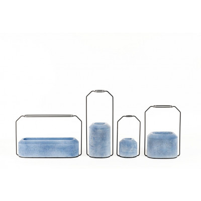 "Weight Vase Blue ""Provence"""