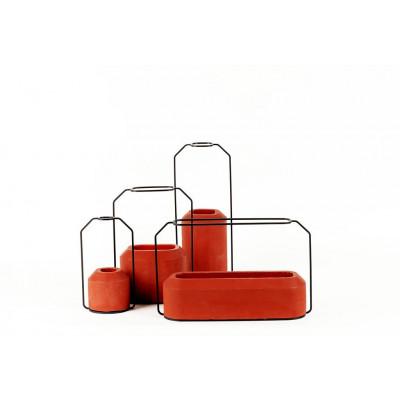 Weight Vase Red