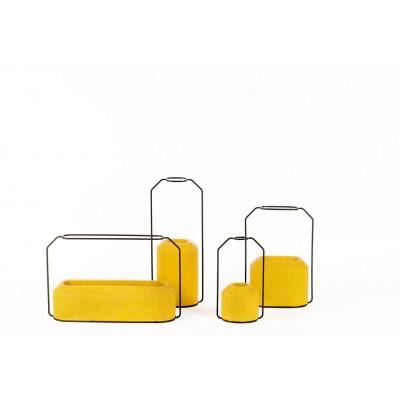 Weight Vase Yellow