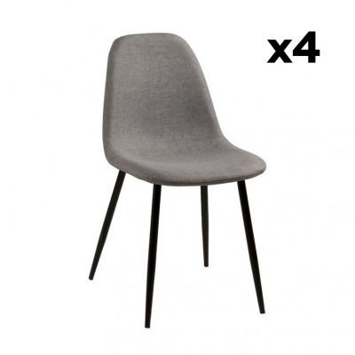 Chaise Wendy | Set de 4 | Gris