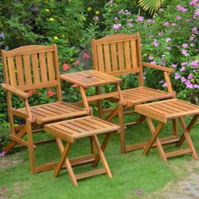 Gartenmöbel-Set WEOD004   Akazienholz