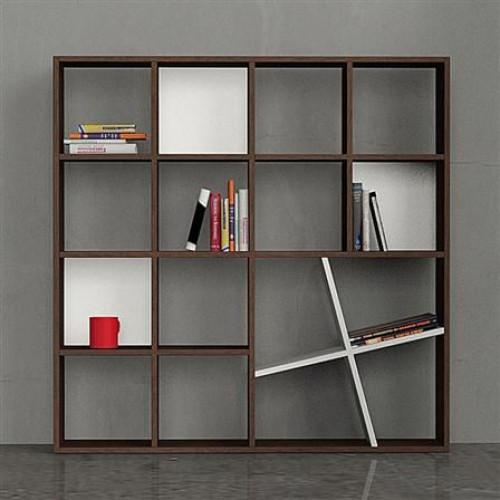 Honey Book Shelf, Wengé / white